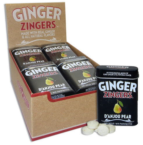 Ginger Zingers Pear Tin 1.07oz (12-pack)