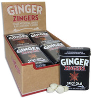 Ginger Zingers Spicy Chai Tin 1.07oz (12-pack)