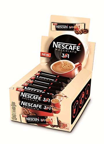 Nescafe 3 en 1 Macchiato (Sweet&Creamy) Instant Coffee paquetes individuales 28 x 0.53 oz