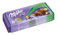 Milka Broken Hazelnuts Chocolate Bar 100g (10-pack)