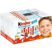 Kinder Chocolate Milk and Cocoa Chocolate 8 Bars Pack, TEN 100g/Bar