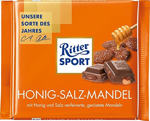 Ritter Sport Ritter Sport Honey & Salt Almonds Chocolate Bar 100g (11-pack) Honig-Salz-Mandel