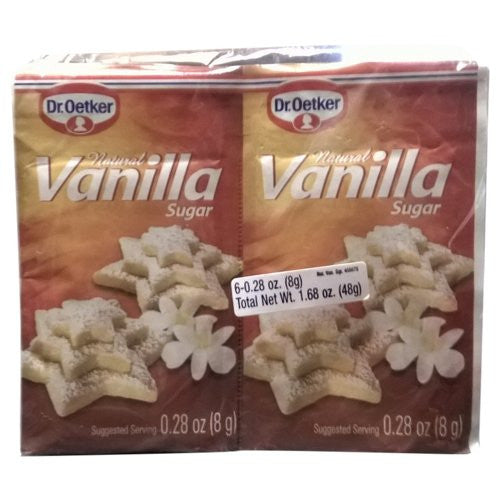 Dr. Oetker Natural Vanilla Sugar 0.25oz (6-pack)