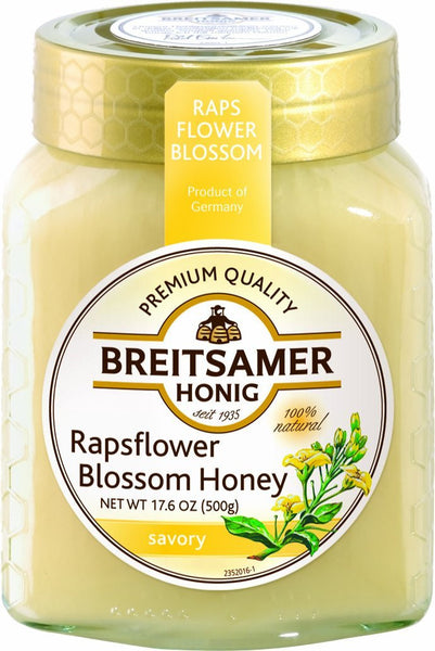 Breitsamer Creamy Rapsflower Honey Jar 500g (6-pack)