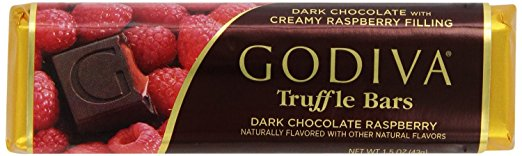 Godiva Dark Chocolate with Rasperry Bar, 1.5000-ounces (Pack of 8)