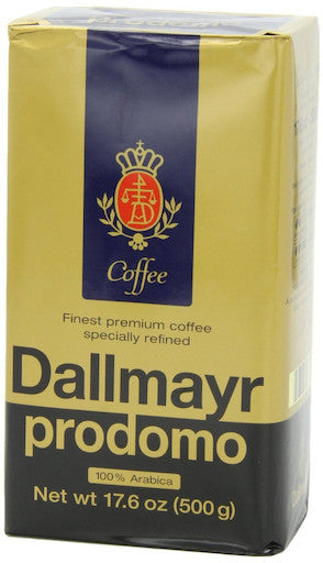 Dallmayr Prodomo Arabica Ground Coffee 17.6oz (6-pack)
