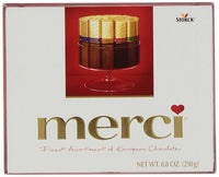 Merci Finest Assortment Milk&Dark Chocolate Selection 250g, Red
