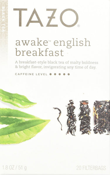 Tazo Awake English Breakfast 20 Count Tea Bags (Pack of 6)