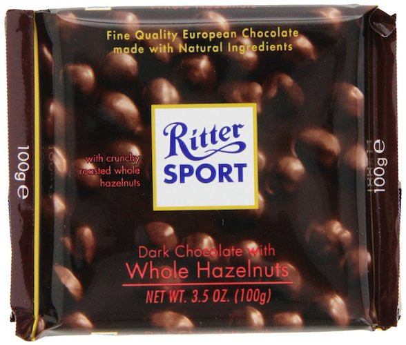 Ritter Sport Dark Chocolate Whole Nuts 100g (10-pack)