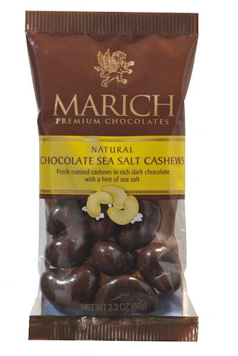 Marich Dark Choc Sea Salt Cashews, 2.3-Ounce (Pack of 12)
