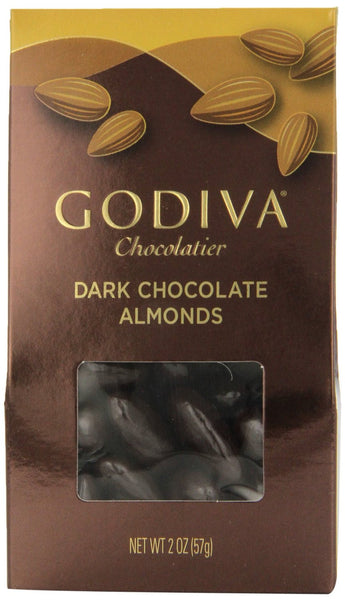 Godiva Dark Chocolate Almonds, 2-ounces (Pack of 5)
