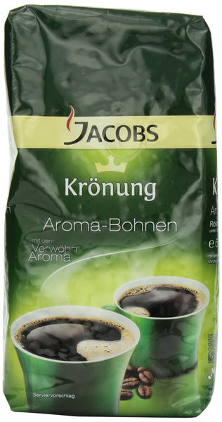 Jacobs Kronung Whole Bean Coffee, 17.6oz Vacuum Packs (Pack of 2)