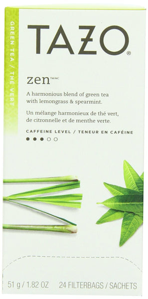 Tazo Zen Tea 24 Count Tea Bags Box (6-pack)