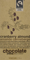 Jelina's 72% Dark Chocolate Cranberry Almond Bar 3.35oz (8-pack)
