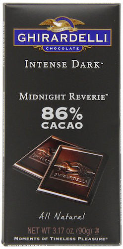 Ghirardelli Intense 85% Dark Bar, Midnight Riverie, 3.5 Ounce (Pack of 12)