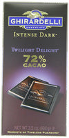 Ghirardelli Intense 72% Dark Bar, Twilight Delight, 3.5 Ounce (Pack of 12)