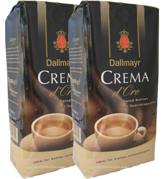 Dallmayr Crema d'Oro Whole Beans Coffee 500g (2-pack)
