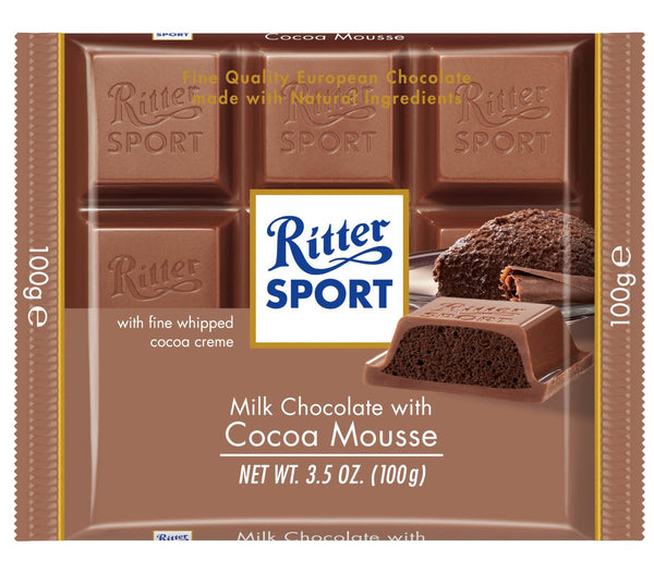 Ritter Sport Cocoa Mousse Chocolate Bar 100g (11-pack)