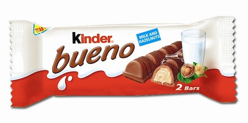 Kinder Bueno Milk Chocolate Bar 43g (6-pack)