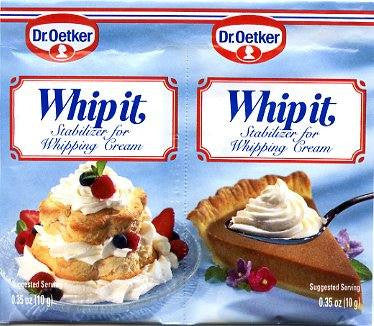 Dr. Oetker Whip It Cream 0.33oz (10-pack)