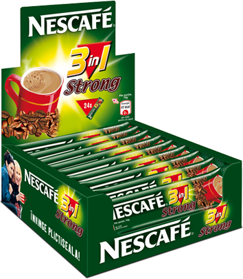 Nescafe 3 in 1 Strong Box (28 Coffee Sticks inside)