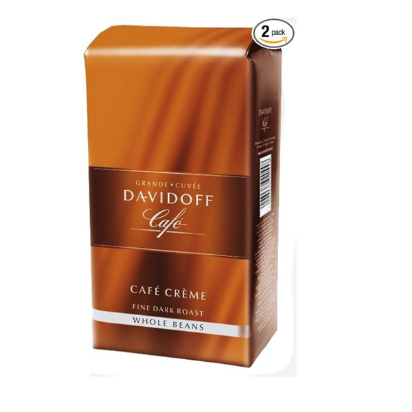 Davidoff Cafe Creme Whole Beans Coffee Bags 500g (2-pack)