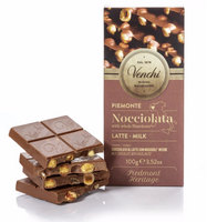 Venchi Nocciolata Milk Chocolate Whole Hazelnuts Bar 100g (6-pack)