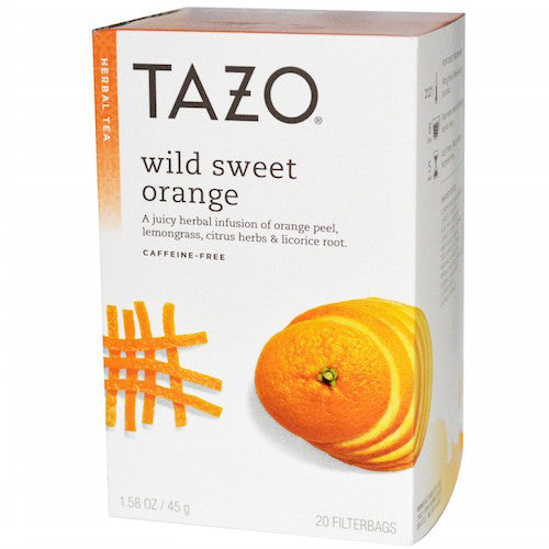 Tazo Wild Sweet Orange 20 Count Tea Bags (6-pack)