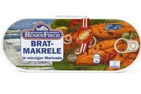 Rugen Fisch Fried Mackerel Fillets in Spicy Marinade (Brat-Makrele ) - 17.6oz [3 units]