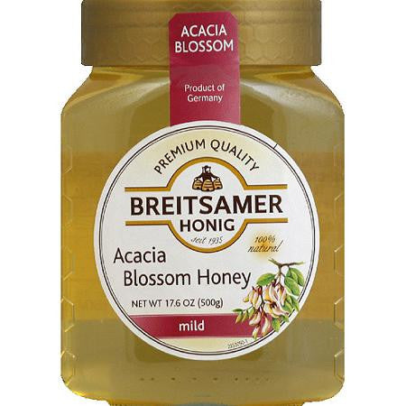 Breitsamer Acacia Blossom Honey Jar 500g (6-pack)