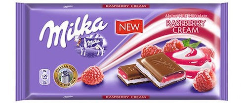 Milka Raspberry Chocolate Bar 100g (10-pack)