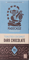 Madecasse Toasted Coconut 70% Dark Chocolate 2.64oz Bar (5-pack)