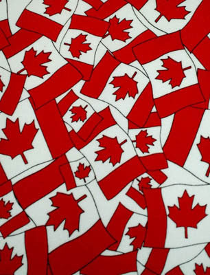 Canadian Flag Flannel Happy Pants