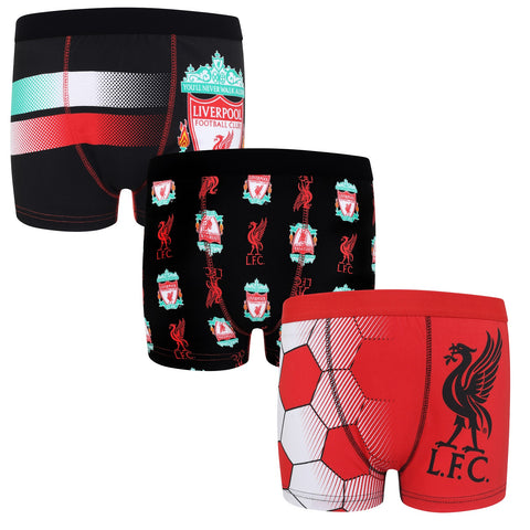L.F.C Official Adults Liverpool Mens Boxer Shorts Twin Pack /& Socks Gift Set