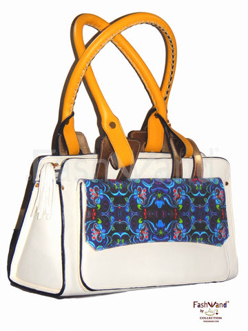 FashWand Italian ArteBorsa™ Handbag in Dancing Flower Design