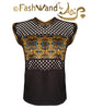 "FashWand Bamboo Mesh Net Panel Top ""Gold Tiger"""