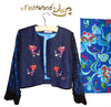 "FashWand Jeweled Embroidery Lace + Silk Denim Jacket ""Dancing Flower"""