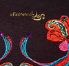 "FashWand Jeweled Embroidery Bamboo Top ""Dancing Flowers"""