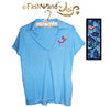 "FashWand Jeweled Embroidery Cotton Polo ""Leopard Flower"""