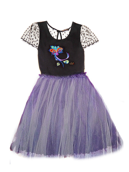 "FashWand Jeweled Embroidery Scalloped Lace Silk Tulle Dress ""Dancing Flower"""