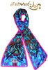 "FashWand 15 x 68 Arte Scarf in Silk ""Dancing Flower"""
