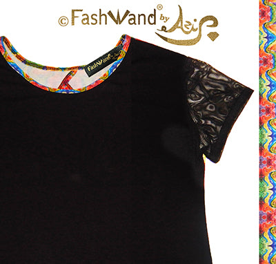 "FashWand Open Back Bamboo Mesh Arte Top ""Dancing Wave"""