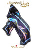 "FashWand 12 x 36 Arte Scarf in Silk Satin ""Sapphire The Spix's Macaw"""