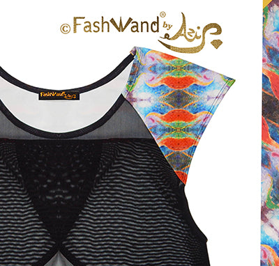 "FashWand Meshy Arte Top ""Tropical Moonlight"""