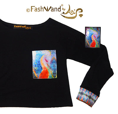"FashWand Bamboo Arte Pocket Top ""Tropical Moonlight"""