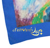 "FashWand 19 x 19  Arte Scarf  in Printed Silk ""Tropical Moonlight"""