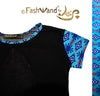 "FashWand Open Back Mesh Arte Top ""Turquoise Sea Pens"""