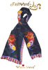 "FashWand 15 x 68 Arte Scarf in Silk Wildlife Jewels ""Alexandrite The Rhino"""