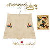 "FashWand Jeweled Embroidery Cotton + Silk Scalloped Hem Shorts ""Azurite The Butterfly"""