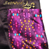 "FashWand Scallop Hem Silk Satin Scalloped Hem Shorts ""Mandarin Garnet Jewels"""